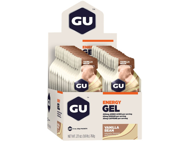 GU Energy Gel Box 24x32g Vanilla Bean